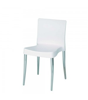 COLOGNE CHAISE DESIGN PVC BLANC