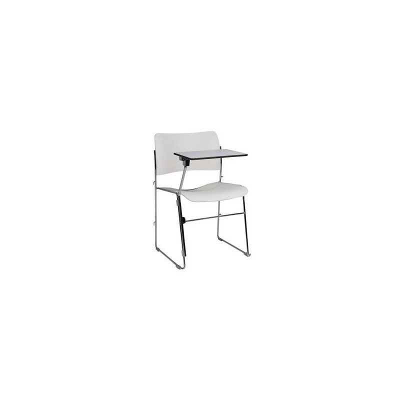 40/4 COLLEGE CHAISE CHROME / BLANC AVEC TABLETTE