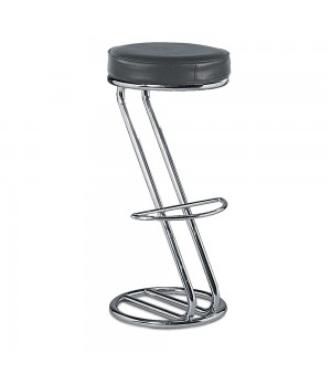 PATTI / AZAIS TABOURET DE BAR CHROME NOIR