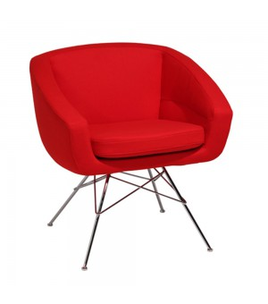 AIKO FAUTEUIL ROUGE TISSU