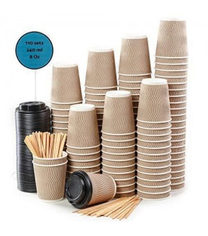 DIVERS  BOISSONS KIT 100 TASSES A CAFE - TOUILLETTES - SUCRES