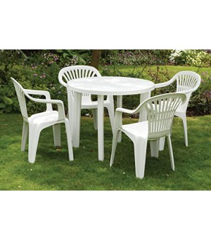 PACK 1 TABLE MARINA + 4 CHAISES MOLINELLA